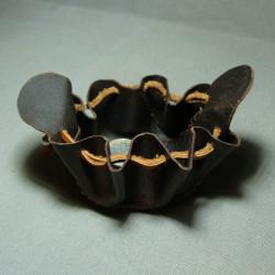 Collar de Cuero Galgo azul